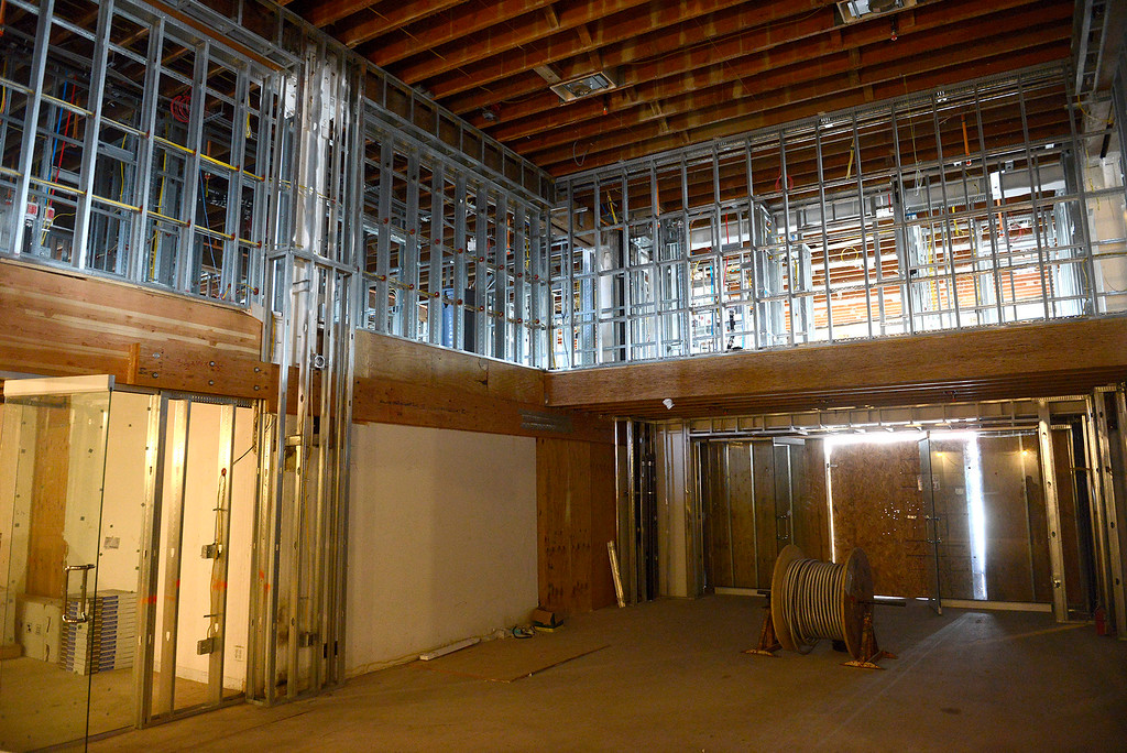 . The front lobby area as work continues on the Holman Building in Pacific Grove on Thursday, May 17, 2018.  (Vern Fisher - Monterey Herald)