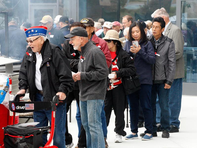 Veterans BBQ in Marina