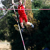 Jack Fling from Pama competes in the pole vault at the CCS Track and Field Championships at Gilroy High on Friday, May 26, 2017.   (Vern Fisher - Monterey Herald)