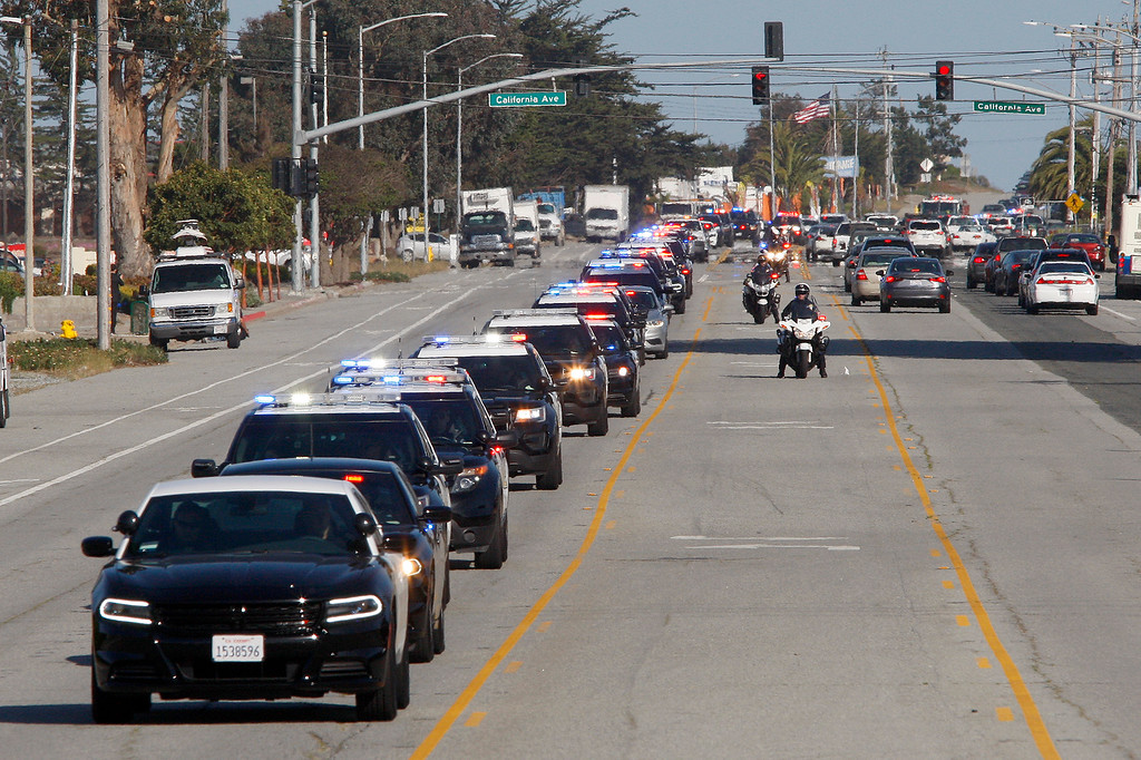 . The 24th annual police procession and memorial for fallen officers on Wednesday, May 9, 2018 in Marina.  (Vern Fisher - Monterey Herald)