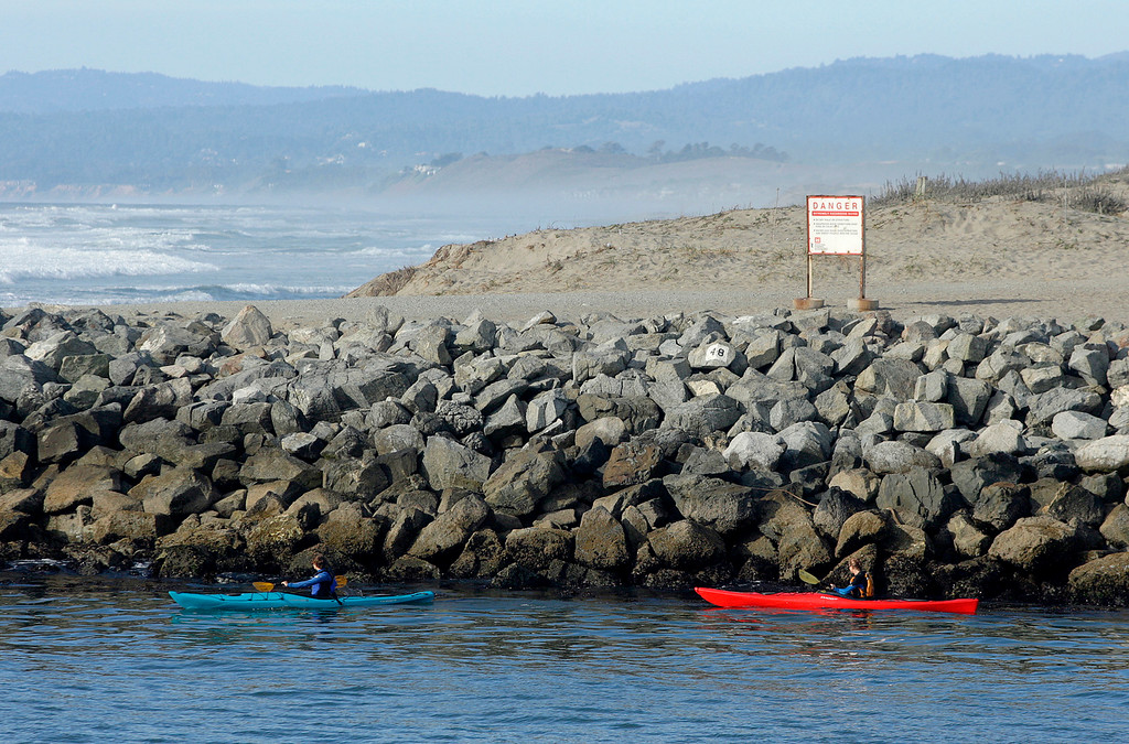 . Kayaking at Moss Landing Harbor on Tuesday, Nov. 14, 2017.  (Vern Fisher - Monterey Herald)