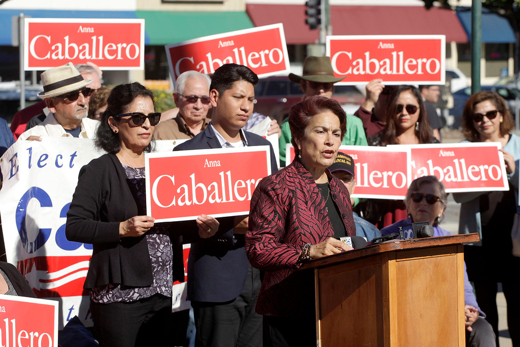 . Assemblywoman Anna Caballero announced her candidacy for State Senate District 12 in Salinas on Monday, Nov. 13, 2017.  (Vern Fisher - Monterey Herald)