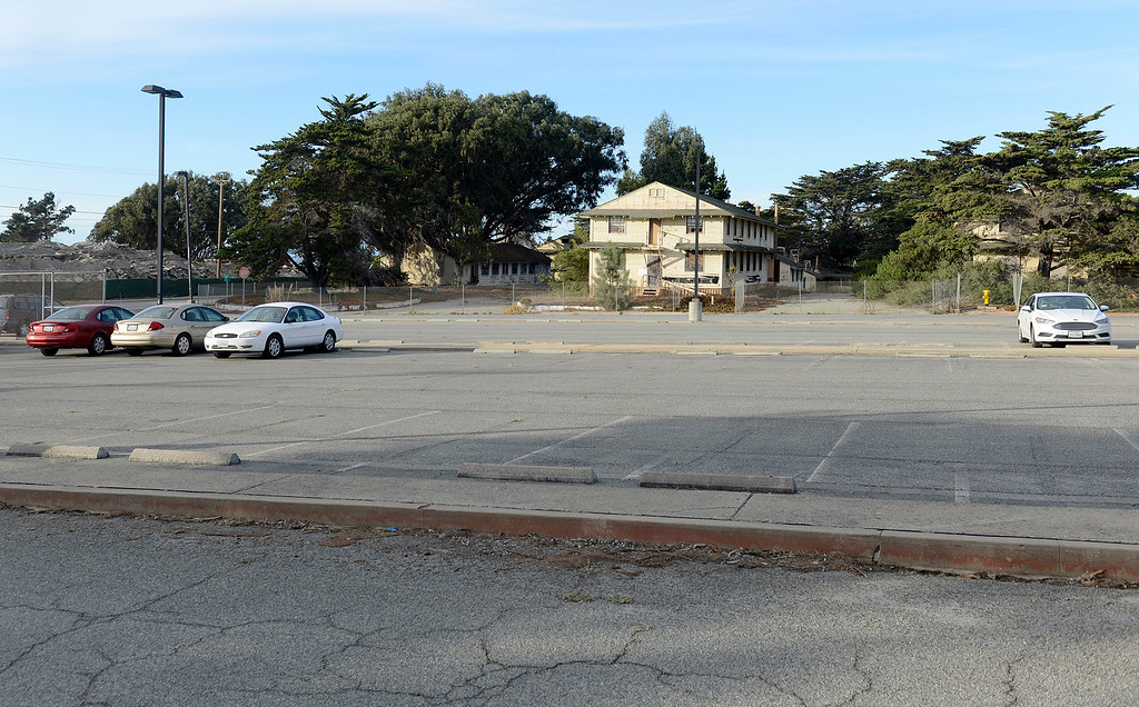 . The parking lot at the district office of Monterey County supervisor Jane Parker on Tuesday, Nov. 14, 2017.  (Vern Fisher - Monterey Herald)