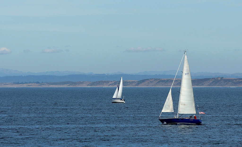 . Sailing off Monterey on Tuesday, Nov. 14, 2017.  (Vern Fisher - Monterey Herald)