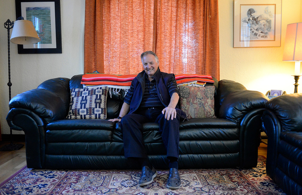 . Edward Moncrief at his Salinas home on Tuesday, Nov. 21, 2017.  Moncrief is the founder of CHISPA, the largest low-income housing builder in Monterey County, and he just published a book about his life and that of an immigrant who developed the San Jerardo Cooperative.  (Vern Fisher - Monterey Herald)