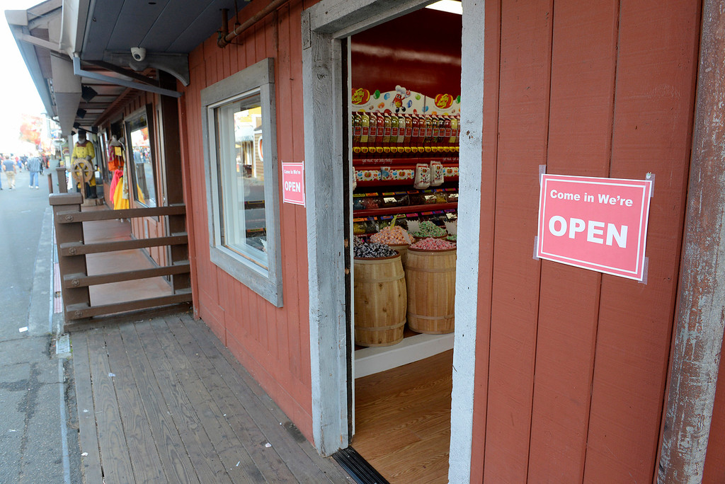 . Candy Land a new business on Fisherman\'s Wharf in Monterey on Tuesday, Nov. 21, 2017.  Candy Land moves in to the location once occupied by Sam Balesteri, owner of Balesteri\'s Wharf Front gift shop since 1965.  (Vern Fisher - Monterey Herald)