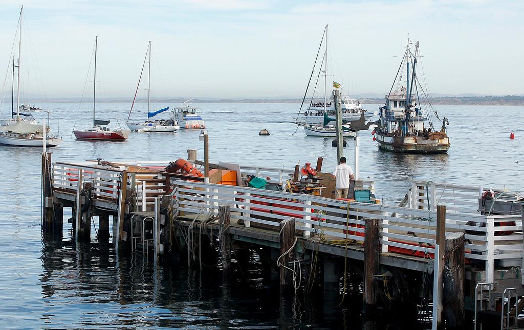 . Fisherman\'s Wharf in Monterey on Tuesday, Nov. 21, 2017.  (Vern Fisher - Monterey Herald)