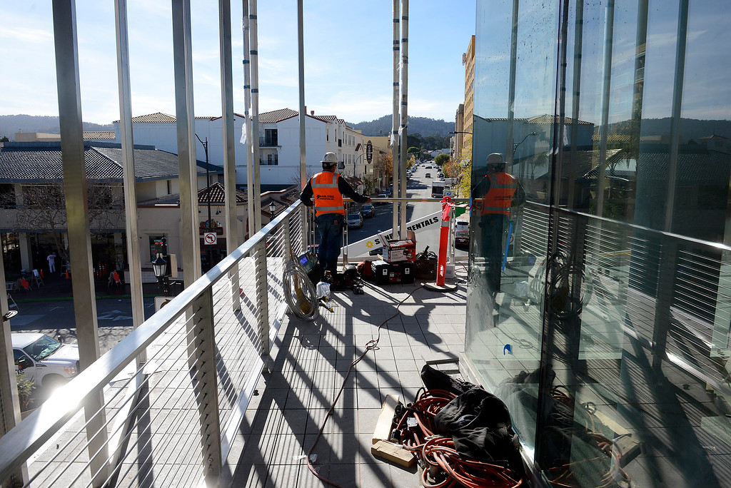 . Construction contiunes on the Monterey Conference Center $60 Million renovation project on Tuesday, Nov. 28, 2017. The project will make 40,000+ square feet of Center meeting space with a 3,200 person total capacity once completed hopefully sometime soon.  (Vern Fisher - Monterey Herald)