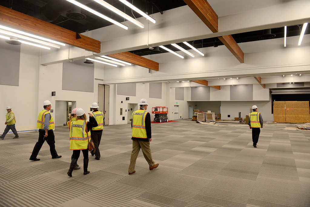 . Monterey city officials tour the Monterey Conference Center $60 Million renovation project on Tuesday, Nov. 28, 2017. The project will make 40,000+ square feet of Center meeting space with a 3,200 person total capacity once completed hopefully sometime soon.  (Vern Fisher - Monterey Herald)