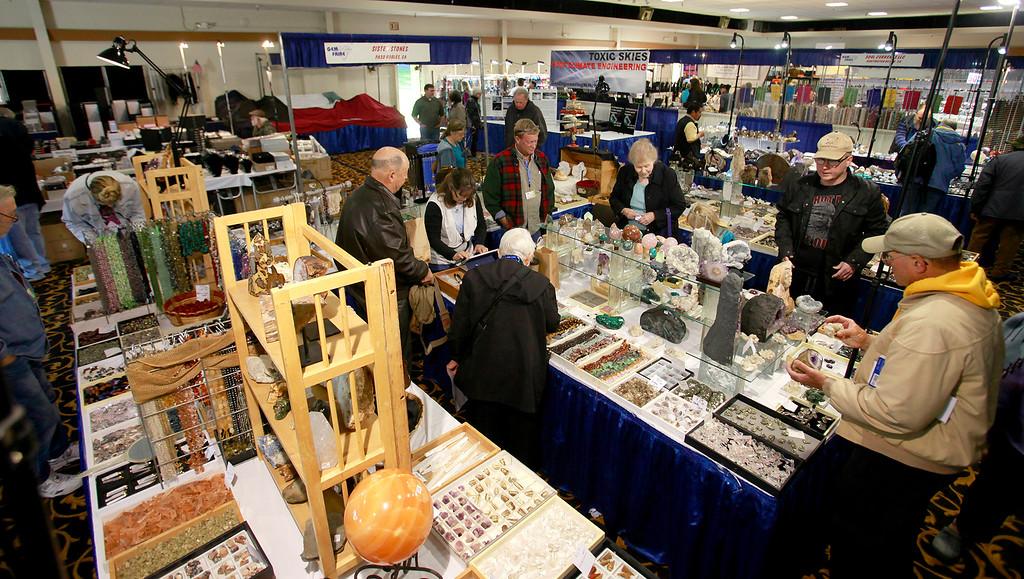. The Gem Faire at the Monterey Fairgrounds on Sunday, Nov. 27, 2016.  (Vern Fisher - Monterey Herald)