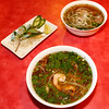 Seafood noodle soup, foreground, a soup bowl entrée served at Taste of Vietnam, is pictured on Saturday, November 28, 2015 in, Seaside, Calif. (Vernon McKnight/Herald Correspondent)