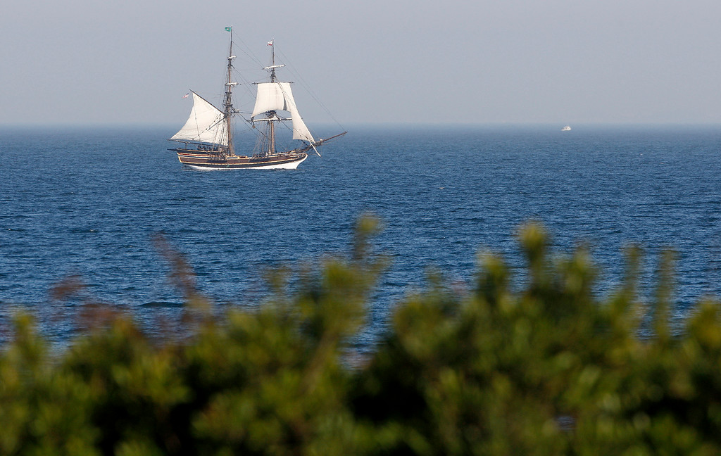 . The tall ship Lady Washington sails for Monterey on Friday, November 9, 2018 for an extended stay.  (Vern Fisher - Monterey Herald)