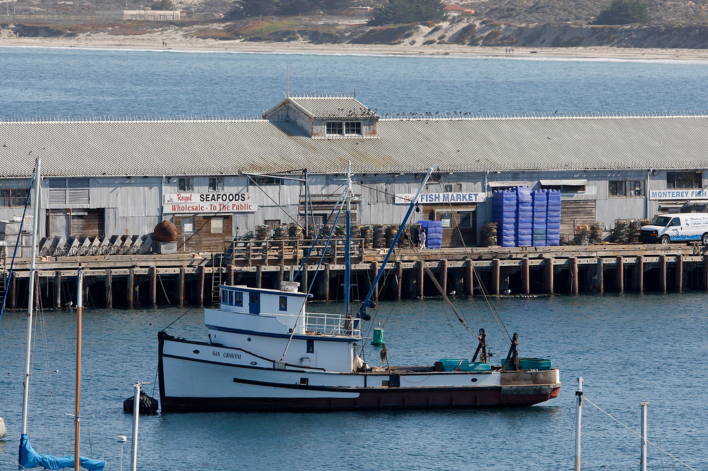 . The Monterey Harbor with Wharf No. 2 on Friday, November 9, 2018.  (Vern Fisher - Monterey Herald)