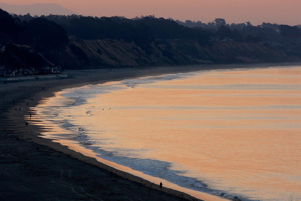 . Seacliff State Beach in Aptos on Tuesday, Oct. 17, 2017.  (Vern Fisher - Monterey Herald)