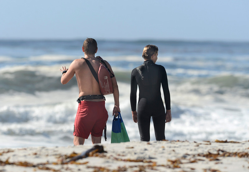 rescue at Carmel Beach