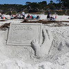 The entry titled, Carmel Castle by contestant Bill Lewis is pictured during the Great Sand Castle Contest of Carmel on Sunday, October 4, 2015 in Carmel by the Sea, Calif. (Vernon McKnight/Herald Correspondent)