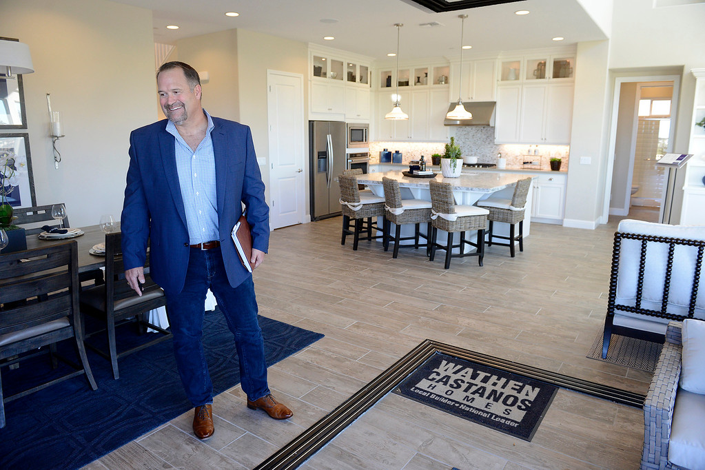 . Peter Castanos vice president of Wathen Castanos Homes Inside one of the model homes at the Sea Haven development in Marina on Thursday, Oct. 26, 2017.  (Vern Fisher - Monterey Herald)