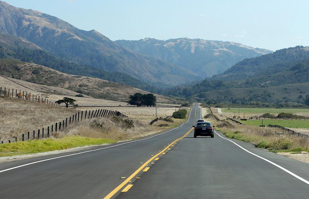 . Highway One north of Big Sur on Wednesday, Nov. 1, 2017.  (Vern Fisher - Monterey Herald)