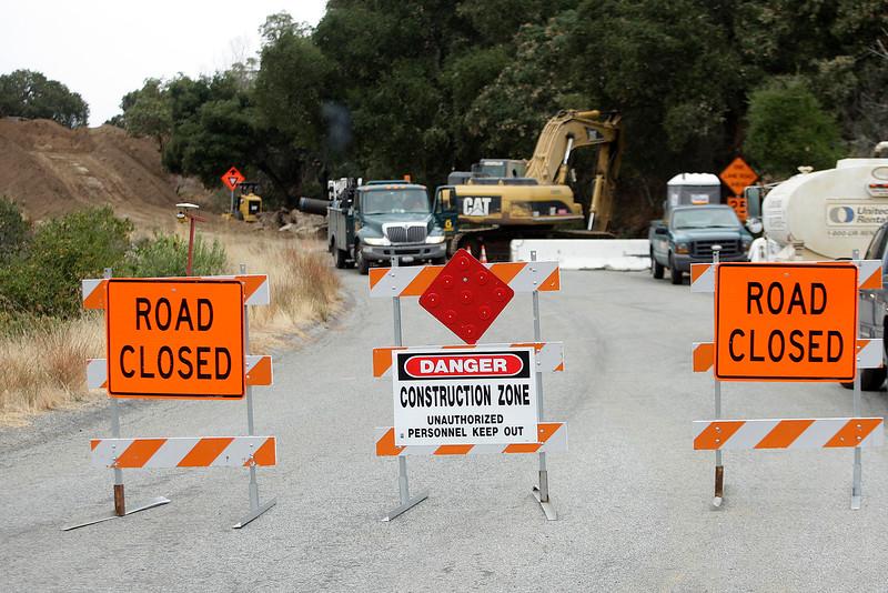 Cachagua Road construction