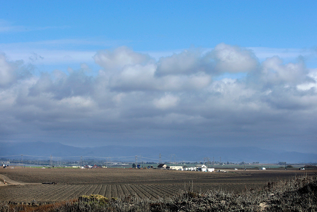 . Partly cloudy skies near Salinas River State Beach on Monday, Oct. 30, 2017.  (Vern Fisher - Monterey Herald)