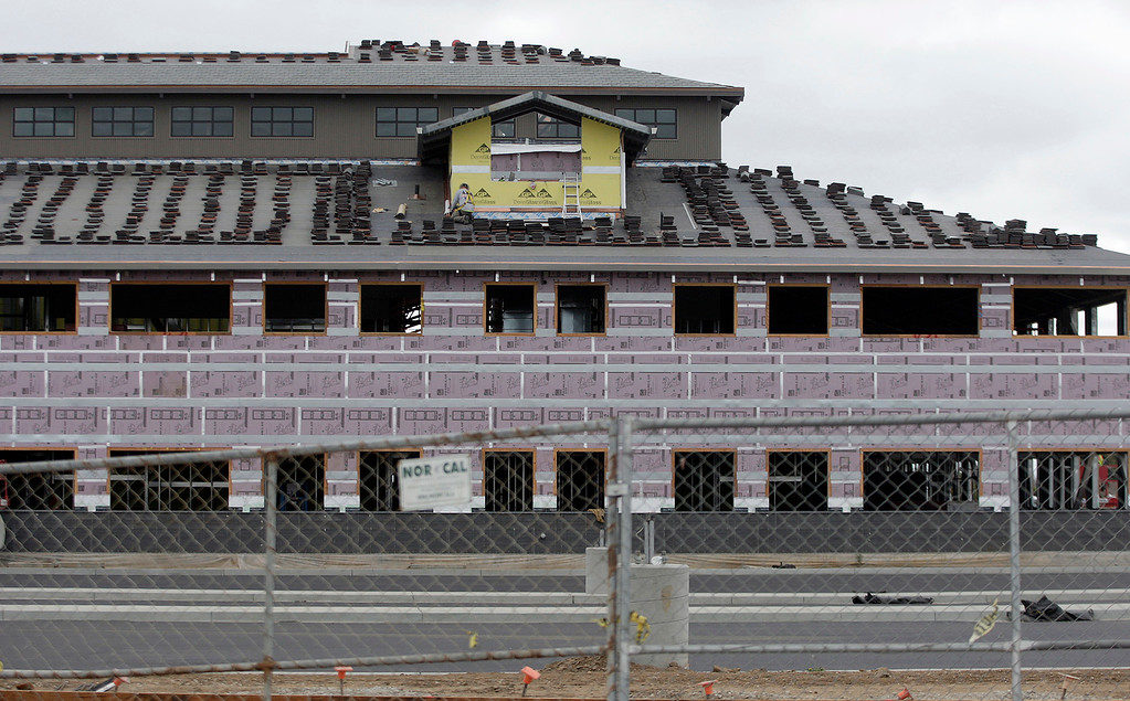 . Construction on Rancho San Juan High School in Salinas on Monday, Oct. 30, 2017.  (Vern Fisher - Monterey Herald)