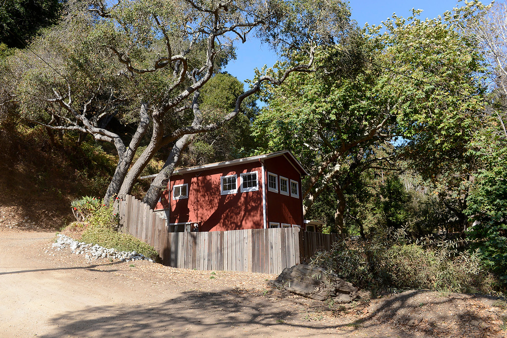 . One of the homes on Sycamore Canyon Road on the way to Pfeiffer Beach in Big Sur on Wednesday, Nov. 1, 2017.  (Vern Fisher - Monterey Herald)