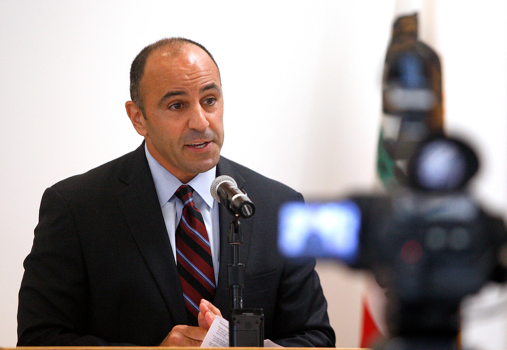 . Congressman Jimmy Panetta at a event at CSU MOnterey Bay on Monday, September 17, 2018 to introduce a bill supporting veteran students.  (Vern Fisher - Monterey Herald)