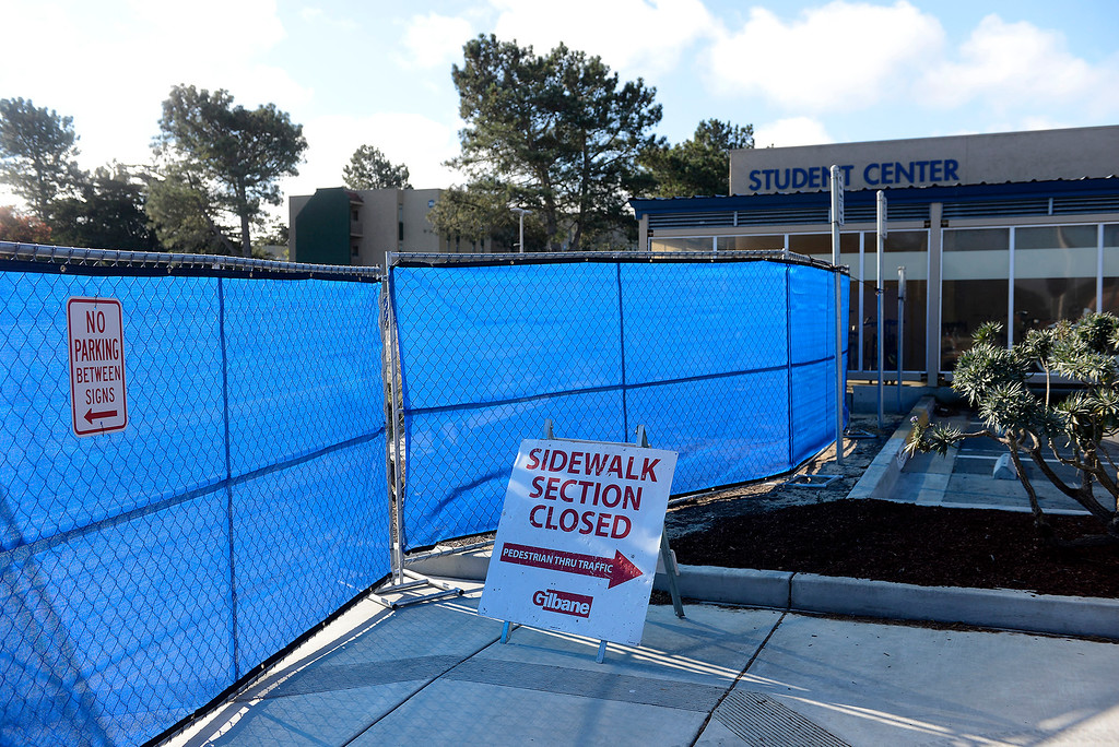 . Parking Lot 12 at CSU Monterey Bay on Monday, September 17, 2018.  Lot 12 is the site for the proposed new student center.  (Vern Fisher - Monterey Herald)