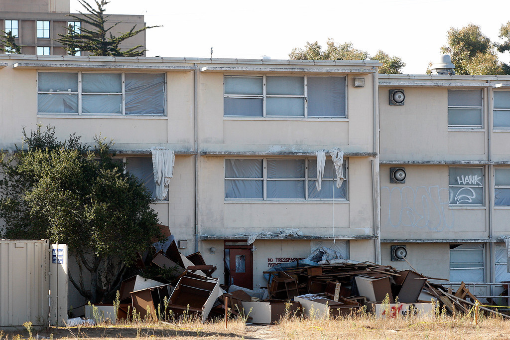 . Buildings to be demolished on Fort Ord to make room for the new Campus Town on Monday, September 17, 2018.  (Vern Fisher - Monterey Herald)