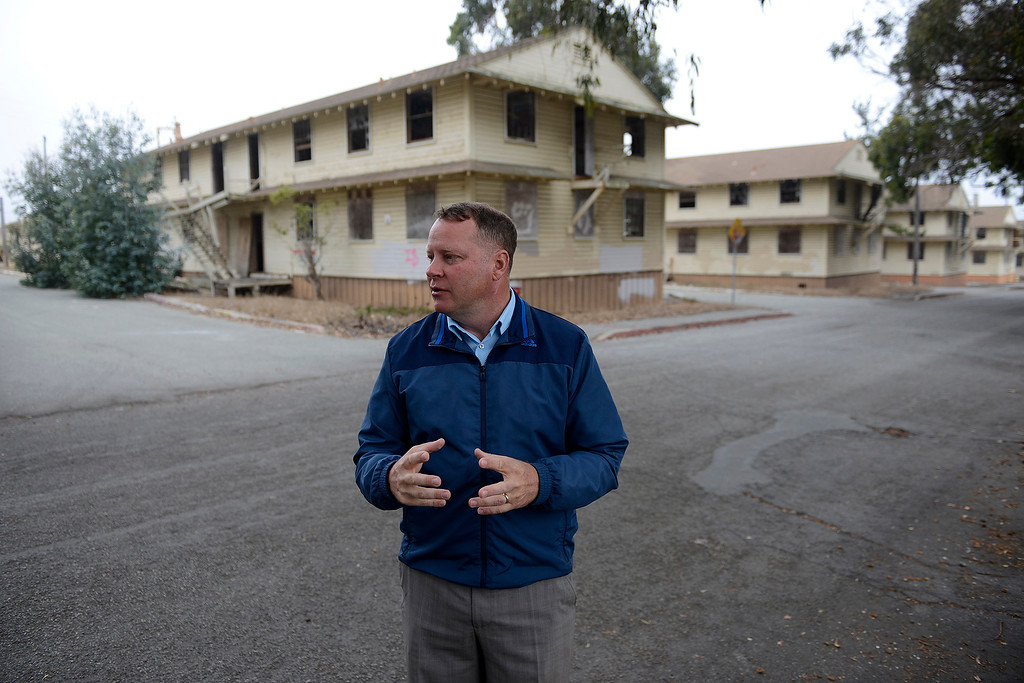 . Brian McMinn, public works director, city engineer for the city of Marina discusses the Del Monte Blvd extension project site on Thursday, September 27, 2018.  The project is designed to create a new artery for traffic within Marina linking the older business district with the newer Dunes on Monterey Bay development area.  (Vern Fisher - Monterey Herald)