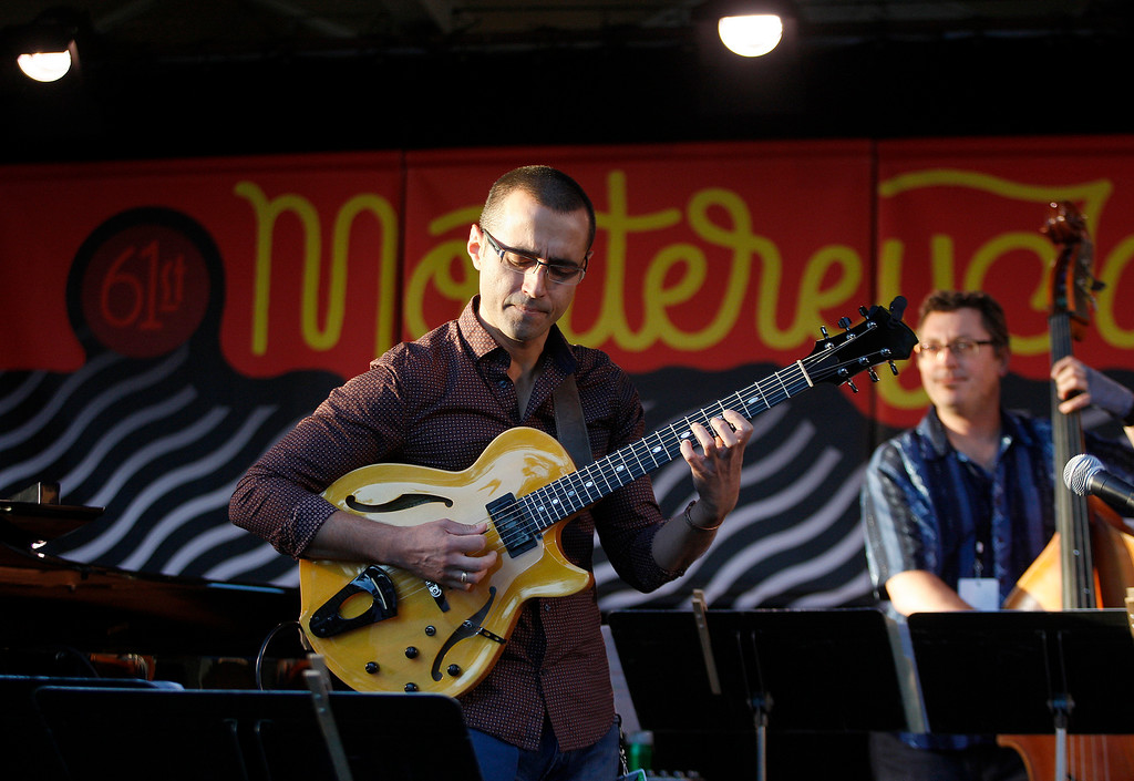 . Hristo Vitchev plays the Garden Stage with the Hristo Vitchev Quartet at the Monterey Jazz Festival on Friday, September 21, 2018.  (Vern Fisher - Monterey Herald)