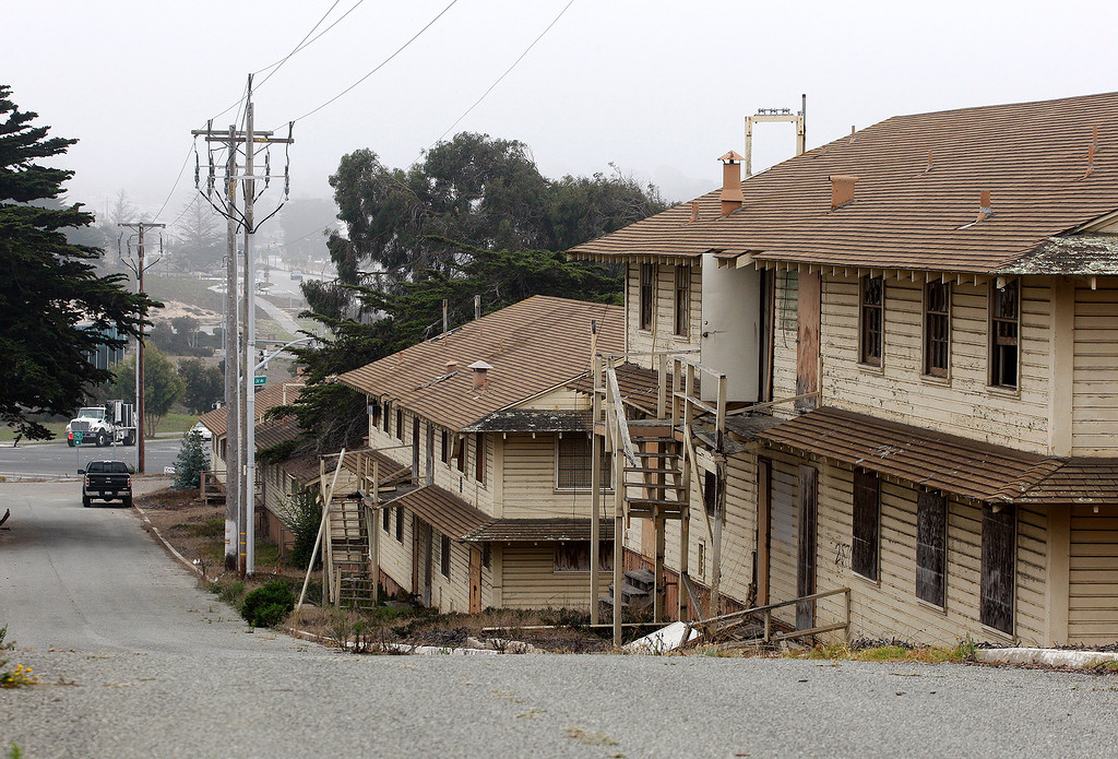. The old barracks area on Fort Ord on Thursday, September 27, 2018.  The Del Monte Blvd. extension project is designed to create a new artery for traffic within Marina linking the older business district with the newer Dunes on Monterey Bay development area.  (Vern Fisher - Monterey Herald)