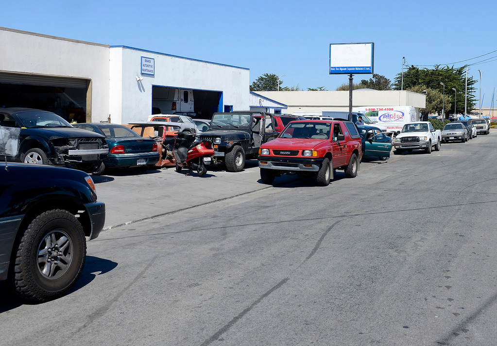 . The New United auto services business at 591 E. Franklin St. in Monterey on Wednesday, Sept. 27, 2017.  (Vern Fisher - Monterey Herald)