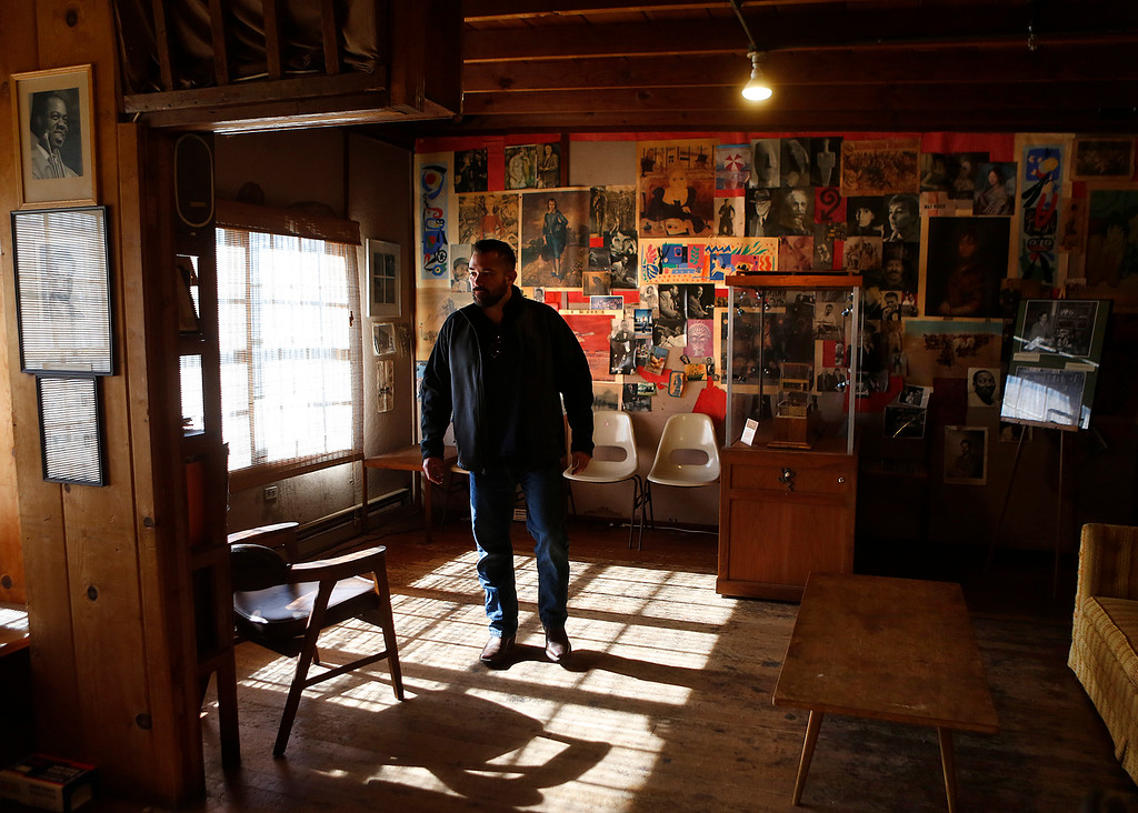 . Monterey Bay Aquarium executive chef Matt Beaudin walks through the front room inside Doc Ricketts Lab in Monterey on Monday September 25, 2017. Frank Wright, the last living member of Doc Ricketts Lab Club recently passed away. Beaudin and other aquarium staff were previewing the building before an upcoming Fisheries Trust event. (David Royal/Herald Correspondent)