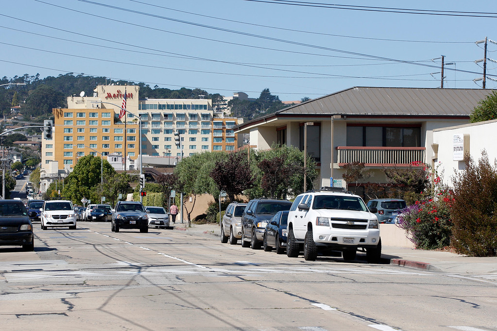 . Looking up E. Franklin St. in Monterey on Wednesday, Sept. 27, 2017.  (Vern Fisher - Monterey Herald)