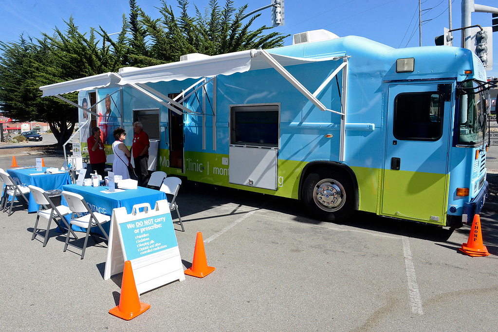 . The Montage Health mobile clinic in Seaside on Thursday, Sept. 28, 2017.  (Vern Fisher - Monterey Herald)