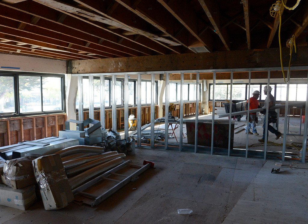 . Construction continues at the Holman building in Pacific Grove on Friday, Sept. 22, 2017.  (Vern Fisher - Monterey Herald)