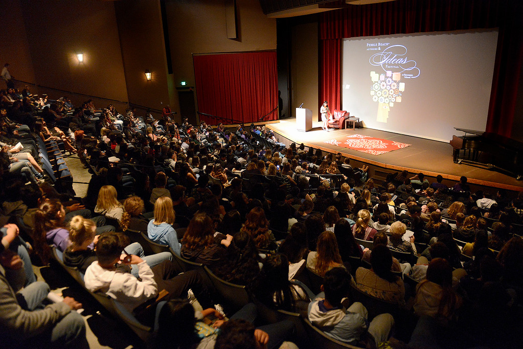 . Local high school students attend the Pebble Beach Authors and Ideas Festival at Santa Catalina School on Friday, Sept. 22, 2017.  (Vern Fisher - Monterey Herald)