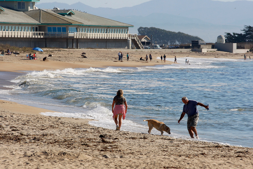 . People headed to the beach to enjoy the nice weather in Moss Landing on Wednesday, Sept. 27, 2017.  (Vern Fisher - Monterey Herald)