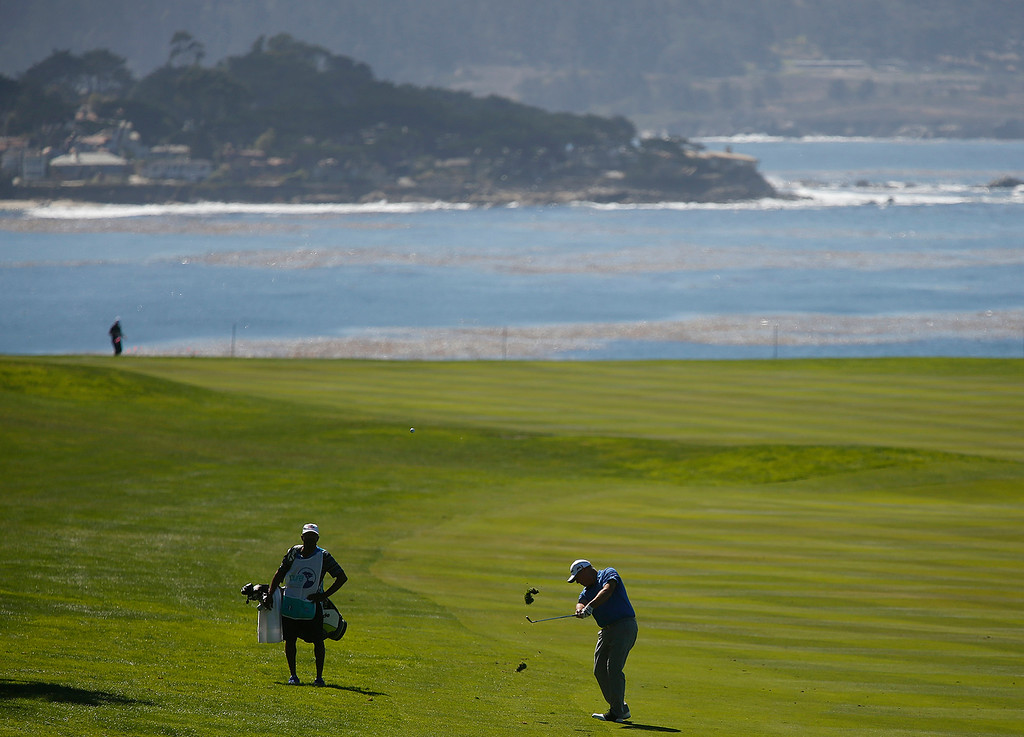 . PGA Tour Champions golfer  Duffy Walldorf hits his ball on the 14th fairwayduring the Pure Insurance Championship Impacting The First Tee at Pebble Beach Golf Links in Pebble Beach  on Saturday September 23, 2017.(David Royal/Herald Correspondent)