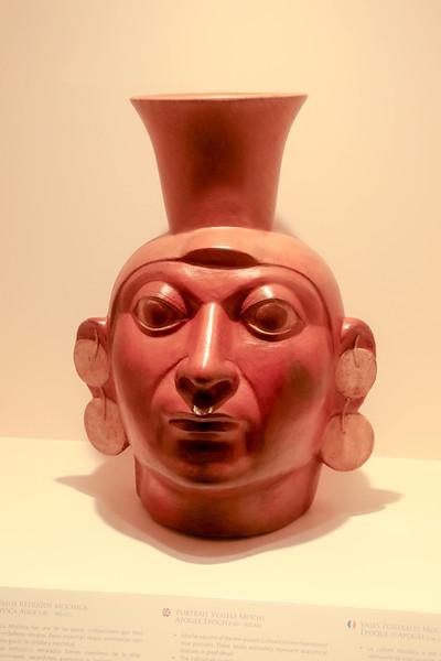 Pre-Hispanic ceramics at the Herrera Museum, Lima, Perus