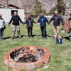 Burning the offering to Mother Earth. Sacred Valley.