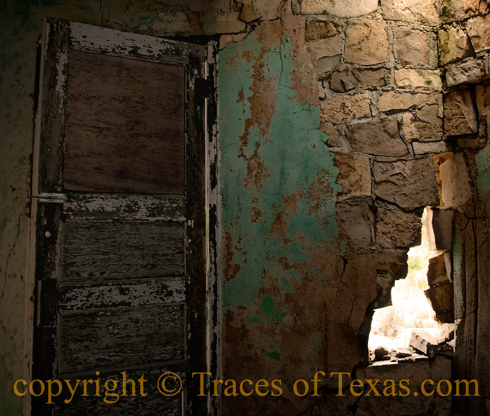 Title: When the Walls Come Tumbling Down<br /> <br /> Comments: Isn't it hard to believe that this door and this wall were ever new?  At one point, this house was somebody's pride and joy. They sat back on the porch when it was done, drank a beer, and congratulated themselves on a job well done. <br /> <br /> Location: Dryden
