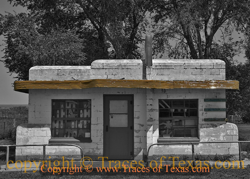 Title:   Glen Rio, Glen Ross<br /> <br /> Comments: Glen Rio, like many panhandle towns, died with Route 66, which went straight through the center of town <br /> <br /> Location: