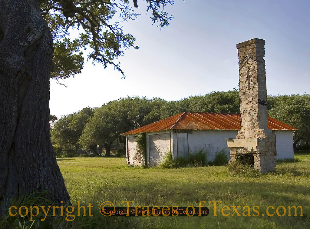 Title:   All That Remains<br /> <br /> Comments: 47 years after Hurricane Carla roared through these parts, all that remains of many houses is fireplaces left out in the middle of random fields. <br /> <br /> Location: Bay City, Texas