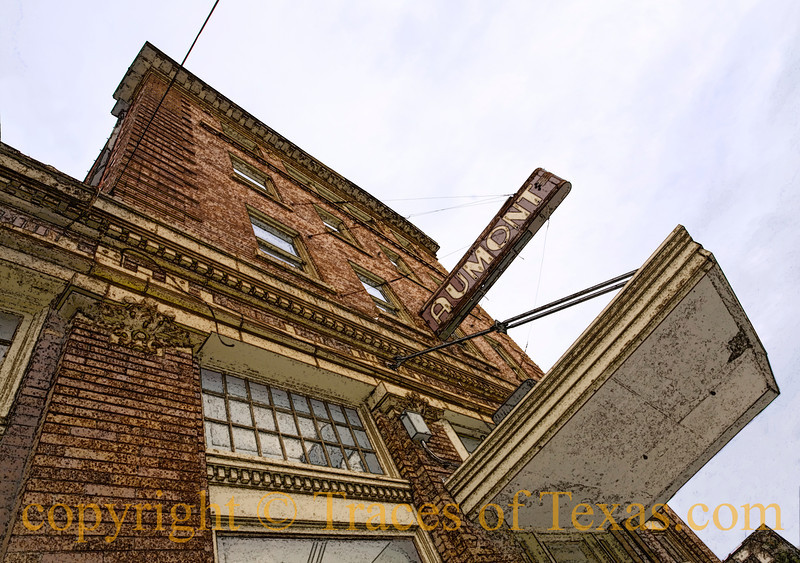 Title: Dreaming of Just Hanging Around<br /> <br /> Comments: The Aumont still stands tall after almost 100 years. I love this building and am hoping for another 100.<br /> <br /> Location: Seguin edit