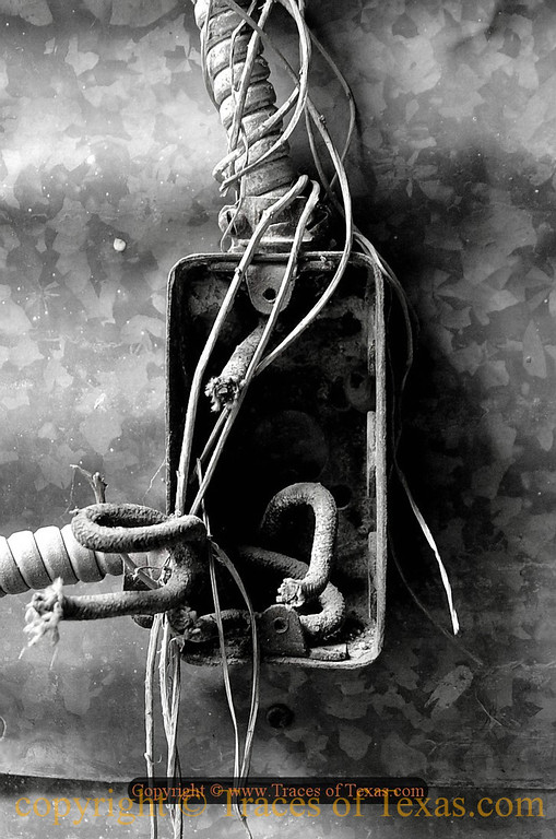 Title: I am not an Electrician but I'm pretty sure that this isn't up to code   <br /> <br /> Comments: We need to talk to Jimmy. <br /> <br /> Location: Thrall