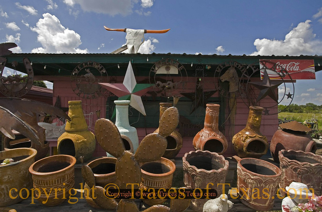 Title:   Flea Market Fantasy<br /> <br /> Comments: I've been thinking of getting a new chiminea. <br /> <br /> Location: Buckholts, Texas