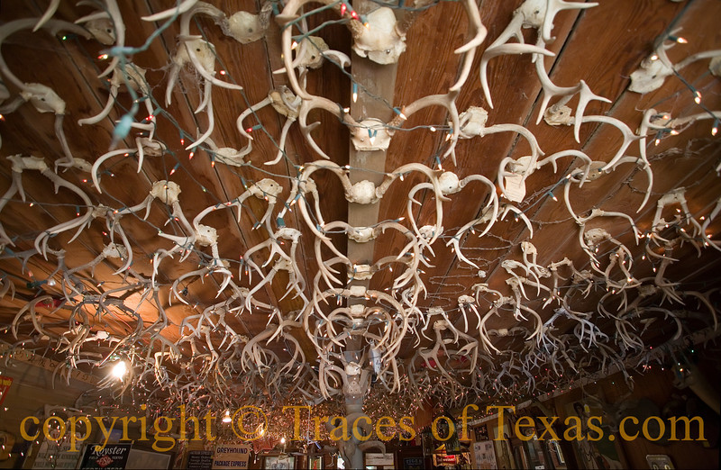 Title: Antler Abstraction<br /> <br /> Comments: The ceiling of the Cockleburr saloon is interesting to say the least.<br /> <br /> Location: The Grove