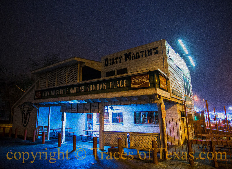 Title: How Do I Love Thee? <br /> <br /> Comments: The hamburgers served at Dirty Martins are legendary, almost a right of passage for every University of Texas student. Justifiably so, in my opinon. <br /> <br /> Location: Austin